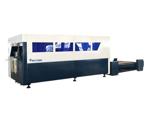 دستگاه برش لیزری فیبر cnc تک پلت فرم ، برش ورق فلزی