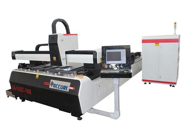 دستگاه برش لیزری فلزی CNC دستگاه برش لیزری فیبر با دو راندمان با راندمان بالا