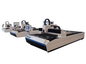دستگاه برش لیزر فیبر با دقت بالا موتور خطی دوگانه برای صفحه فلزی